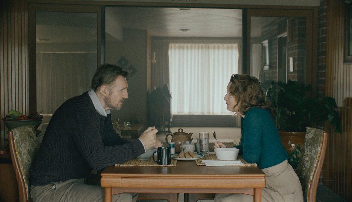 Liam Neeson and Lesley Manville star in the film Ordinary Love
