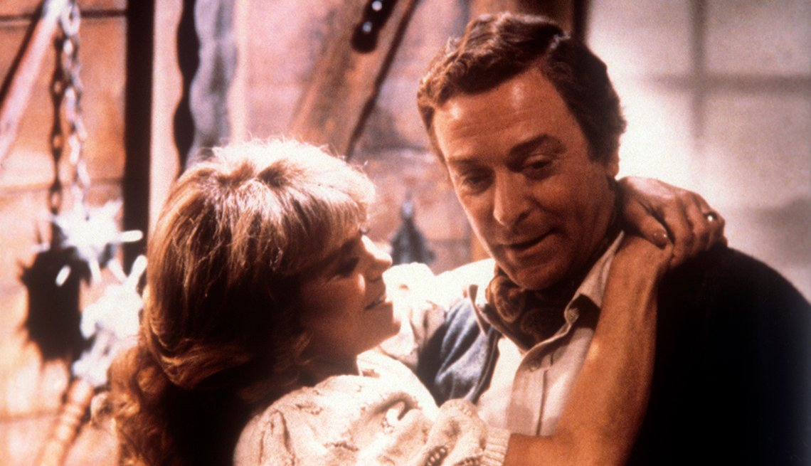 Michael Caine is embraced by Dyan Cannon in a scene from the movie Deathtrap