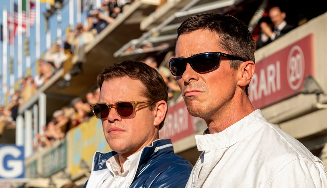 "Matt Damon and Christian Bale star in ""Ford v Ferrari."""