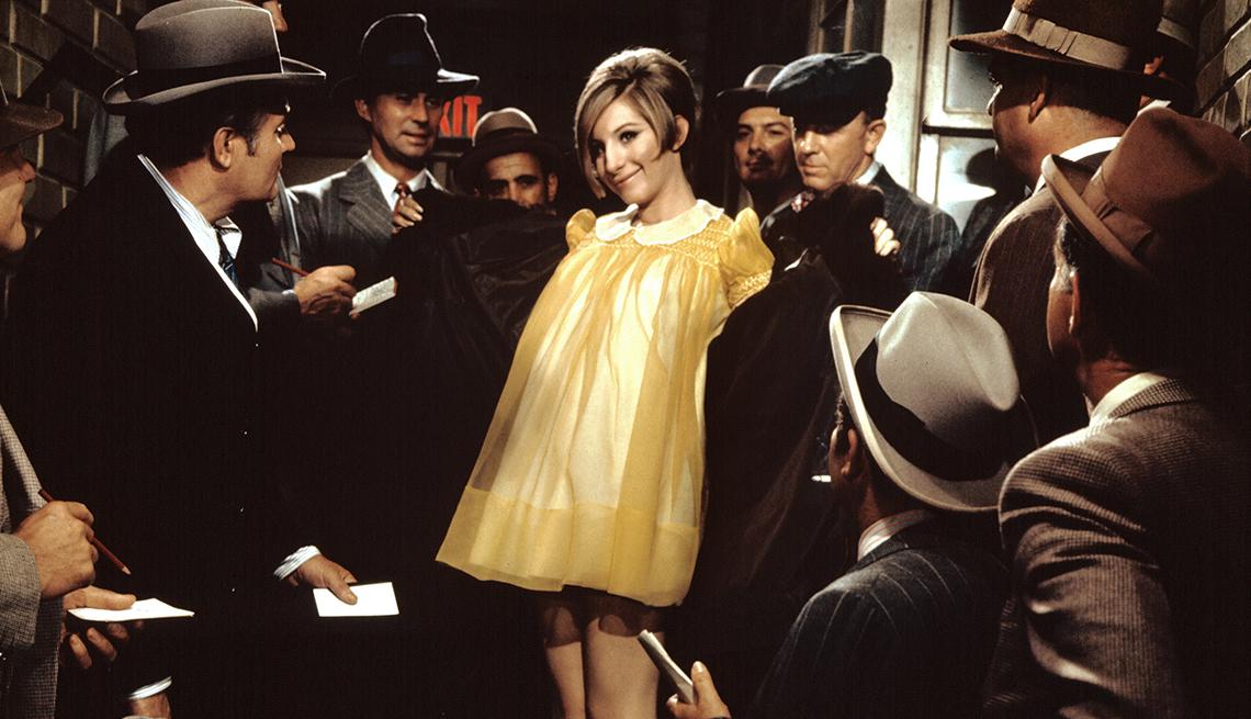 Barbra Streisand stars in the film Funny Girl