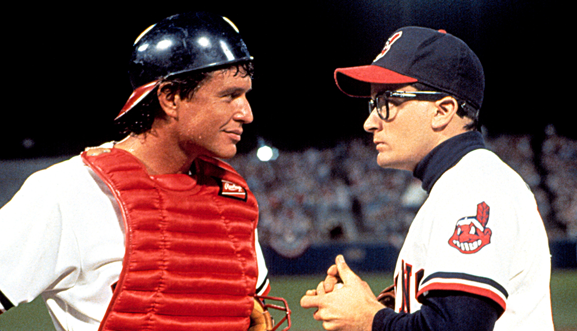 Tom Berenger and Charlie Sheen in the film Major League