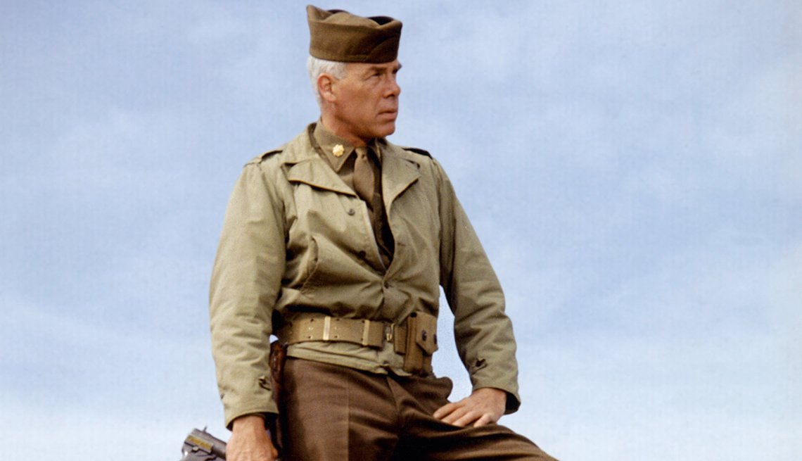 Lee Marvin on the set of The Dirty Dozen