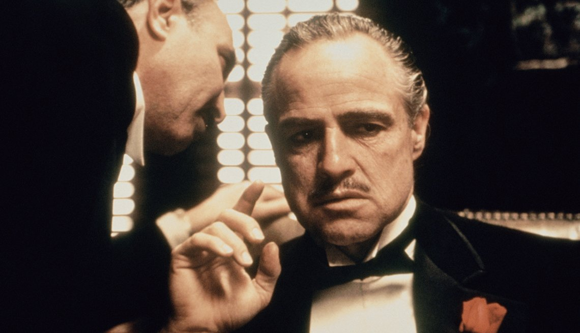 Marlon Brando en una escena de The Godfather