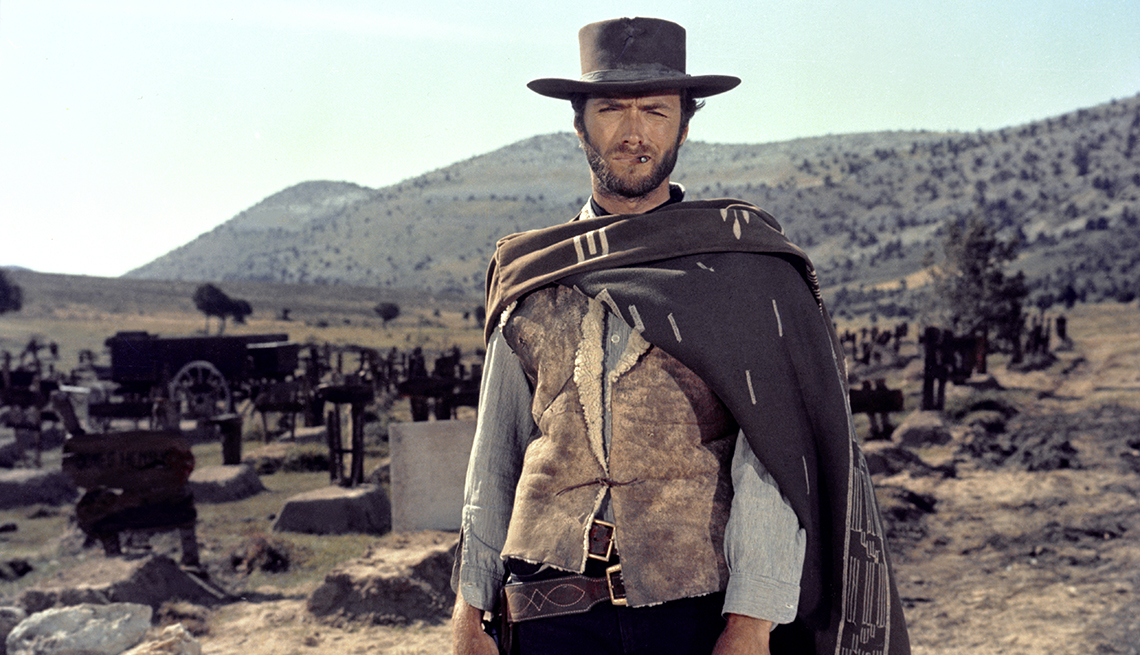 Clint Eastwood on the set of the film The Good The Bad and The Ugly