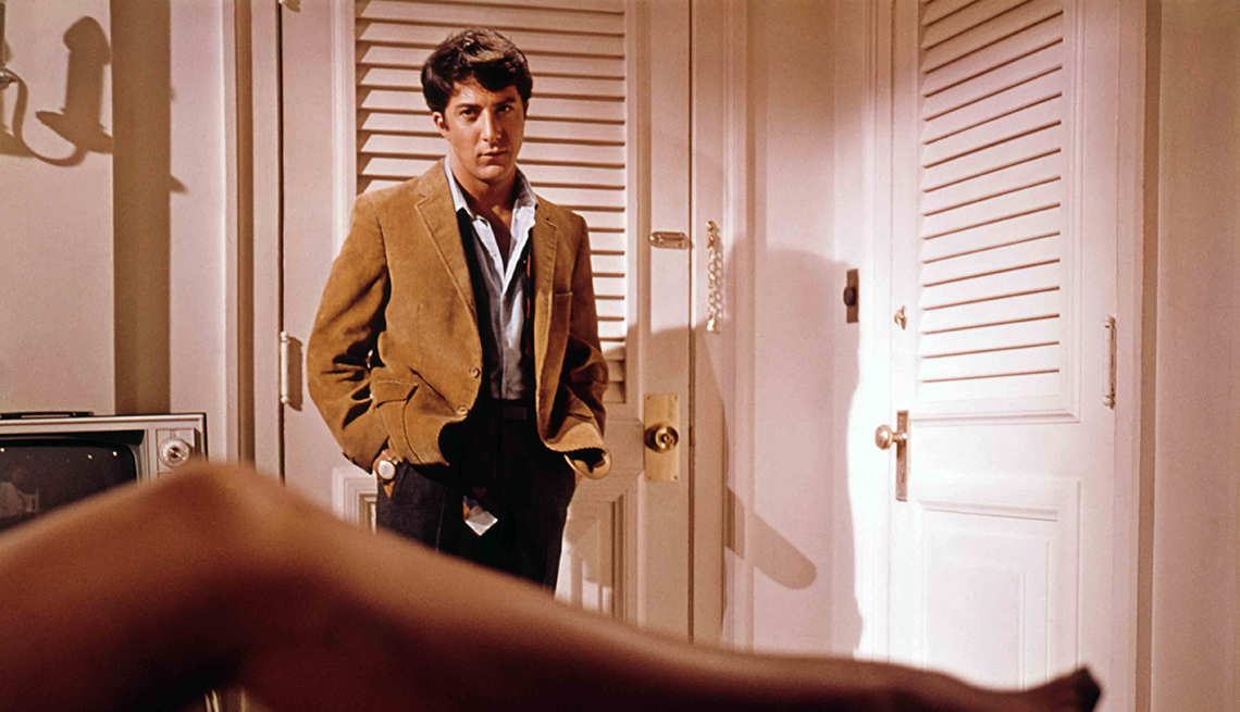 Dustin Hoffman and Anne Bancroft in the film The Graduate