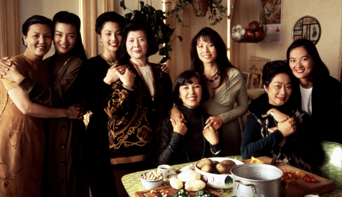 The female cast members of The Joy Luck Club posing for a picture together