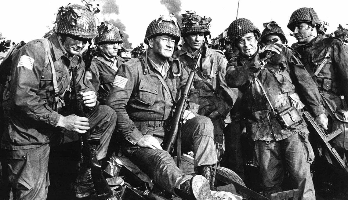 John Wayne stars in the film The Longest Day