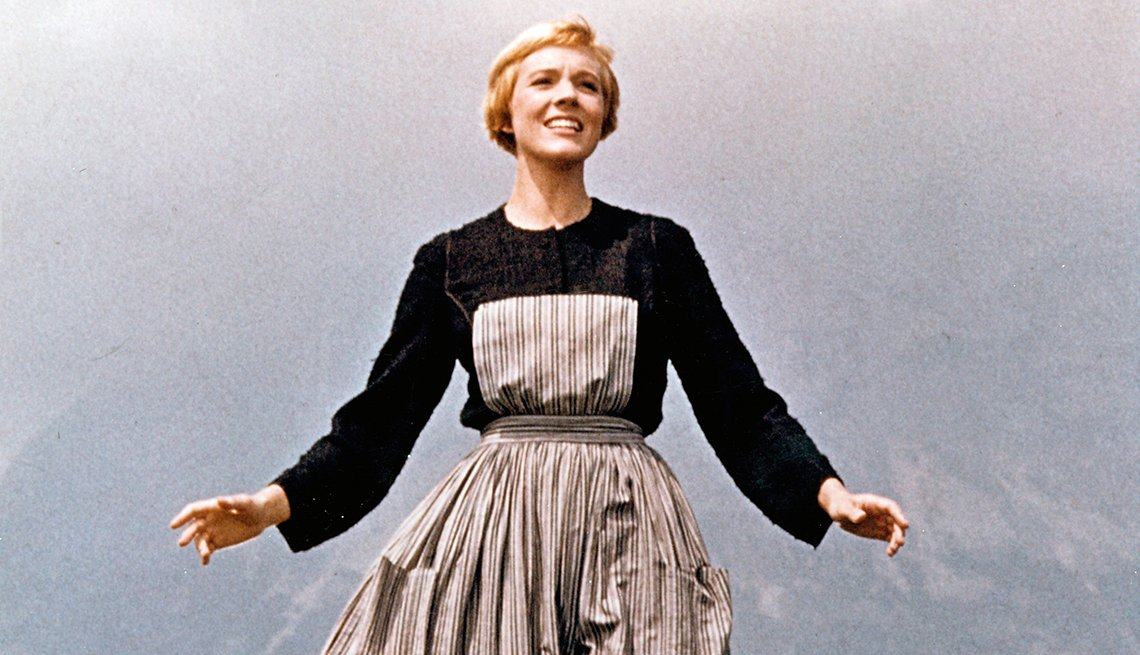 Julie Andrews en una escena de The Sound of Music