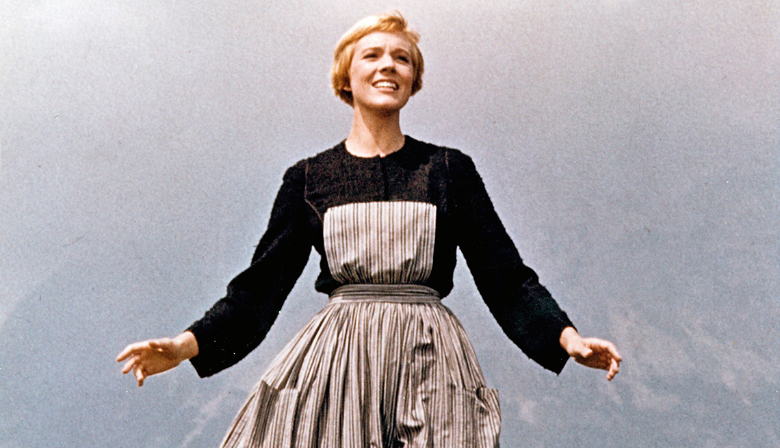 Julie Andrews in the film The Sound of Music