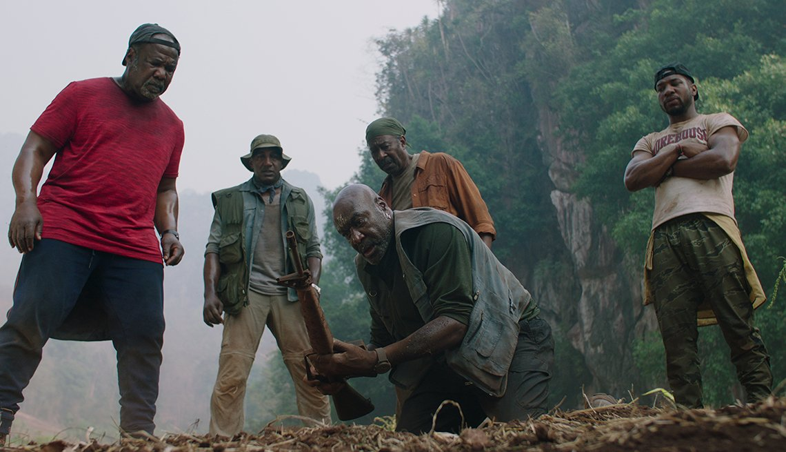 item 12 of Gallery image - Isiah Whitlock Junior Norm Lewis Delroy Lindo Clarke Peters and Jonathan Majors star in the film Da 5 Bloods