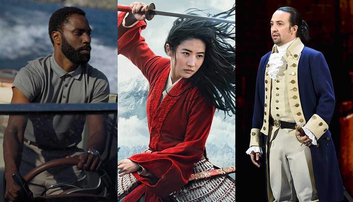John David Washington in Tenet Yifei Liu in Mulan and Lin Manuel Miranda in Hamilton