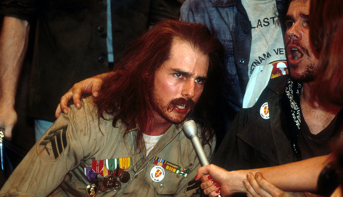 Tom Cruise como Ron Kovic en 'Born on the Fourth of July'.