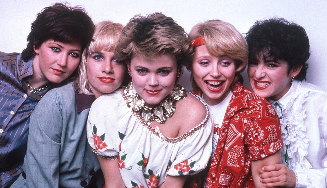 A group photo of the band The Go Gos