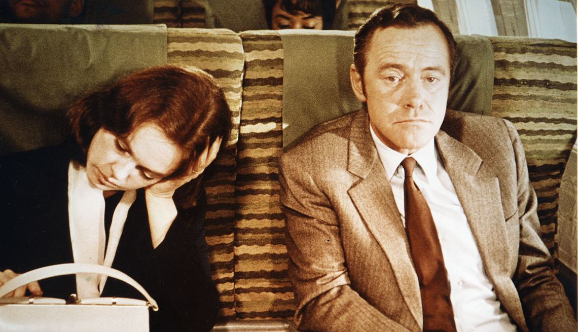 Sandy Dennis and Jack Lemmon in the film The Out of Towners