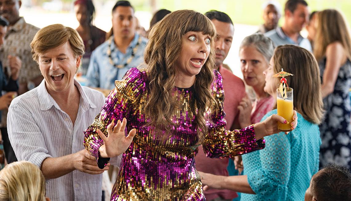 David Spade como Tim Morris y Lauren Lapkus como Missy en 'The Wrong Missy'