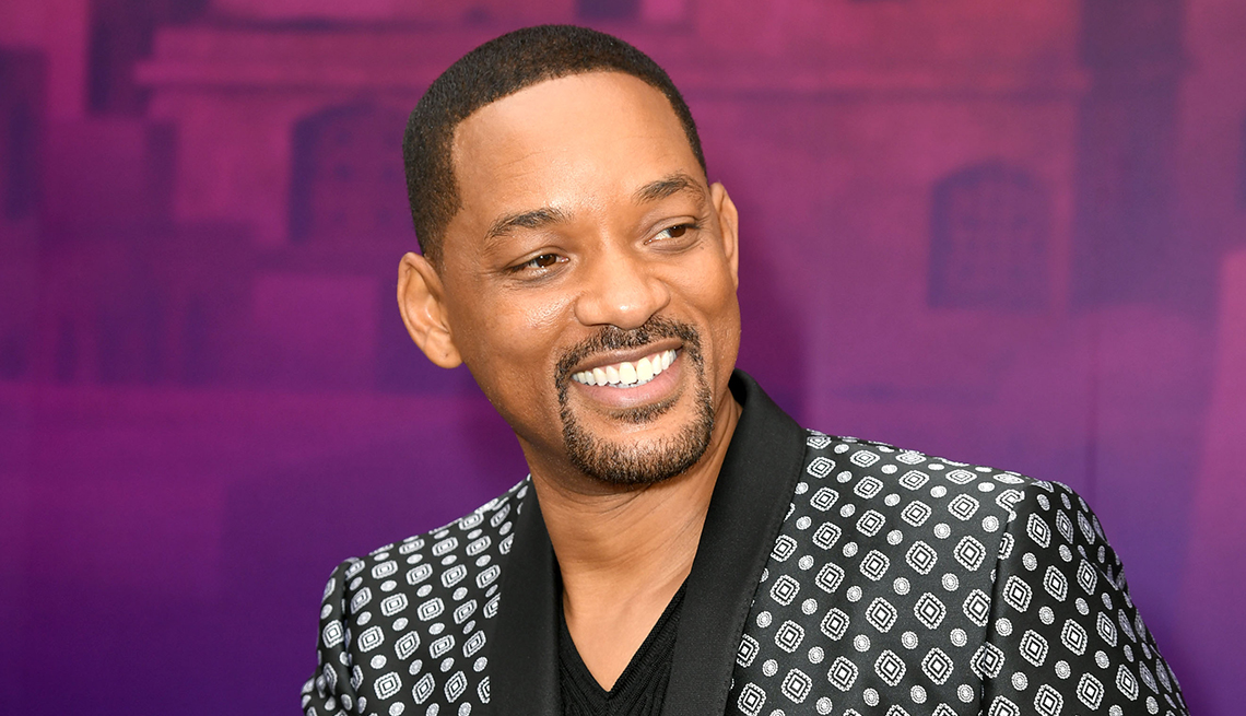 Will Smith arrives at the film premiere of Aladdin