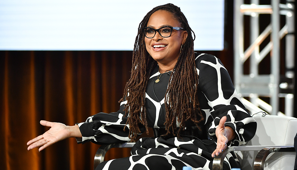 Ava DuVernay speaks during the Oprah Winfrey Network segment of the 2020 Winter T C A Press Tour