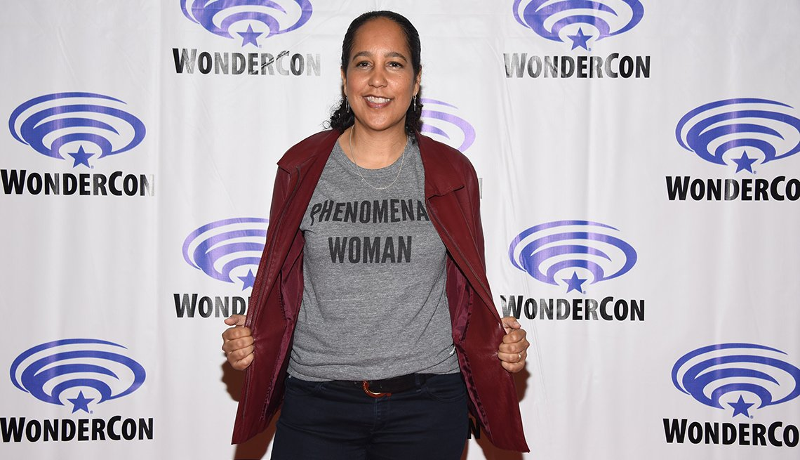 Gina Prince Bythewood attends the Cloak and Dagger press conference at Wonder Con