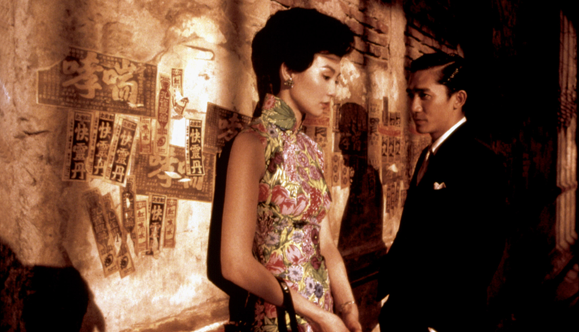 Maggie Cheung and Tony Leung in the film In the Mood for Love