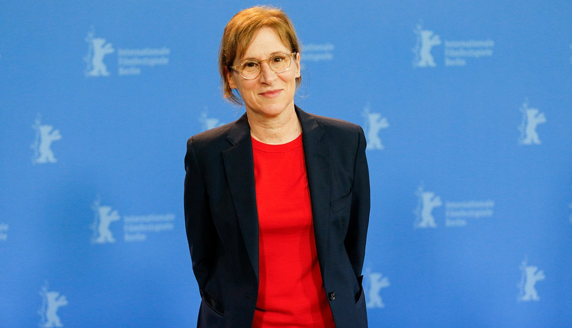 Director Kelly Reichardt attends a photo call before a press conference of First Cow during 70th Berlinale International Film Festival