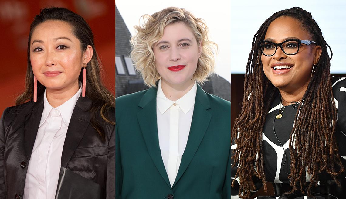 Directoras de cine Lulu Wang, Greta Gerwig y Ava DuVernay