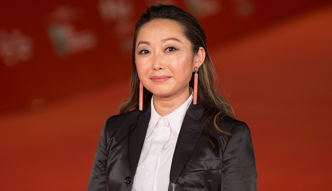 Director Lulu Wang on the red carpet at Rome Film Fest