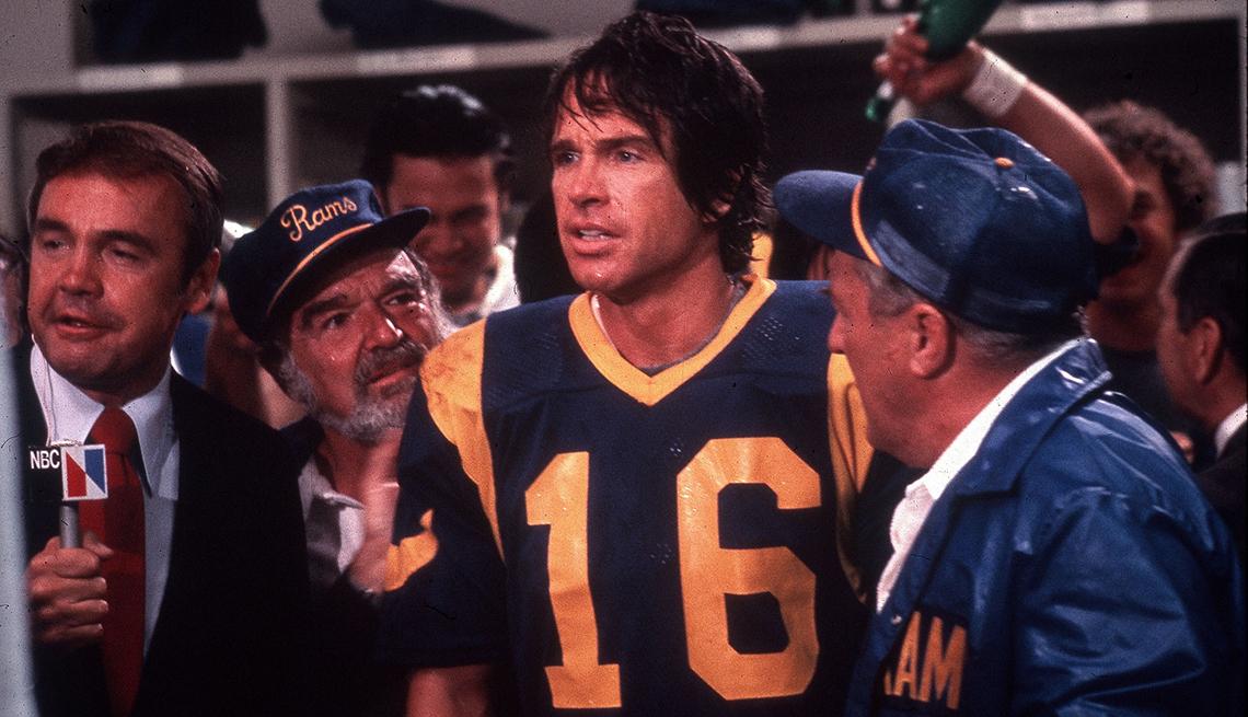 Warren Beatty wearing a Rams football uniform in the film Heaven Can Wait