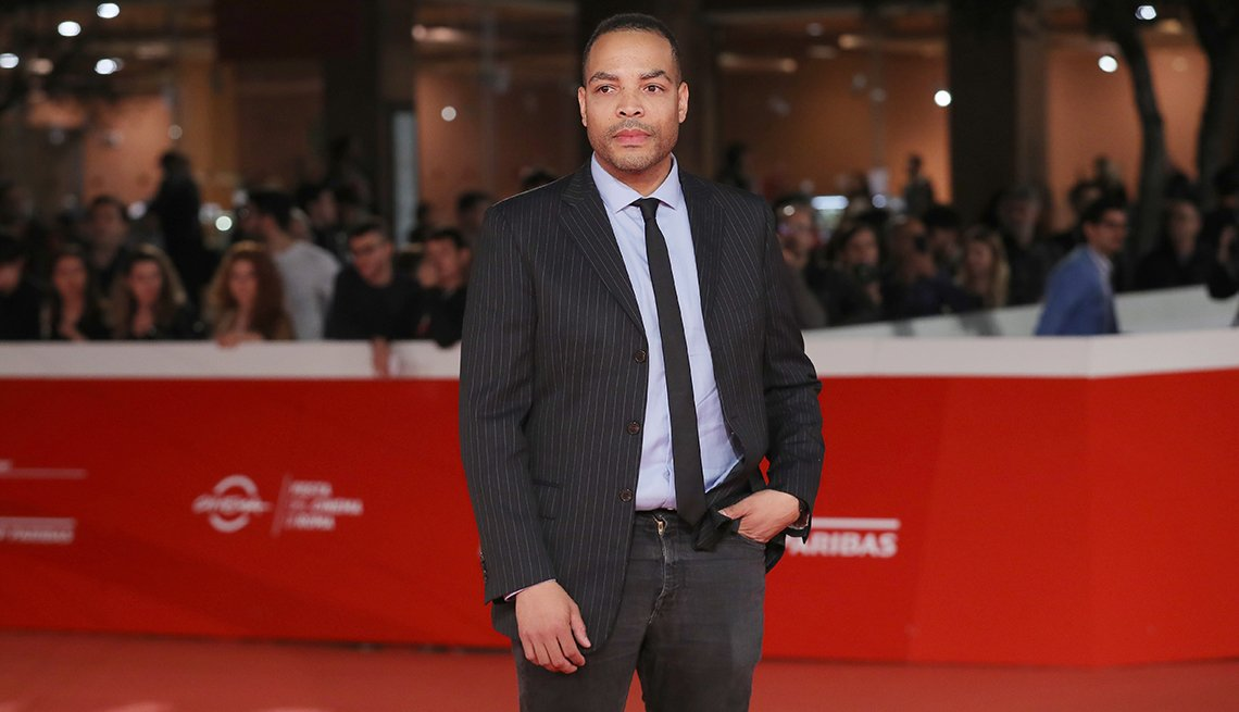 Director Reinaldo Marcus Green on the red carpet for the 13th Rome Film Fest