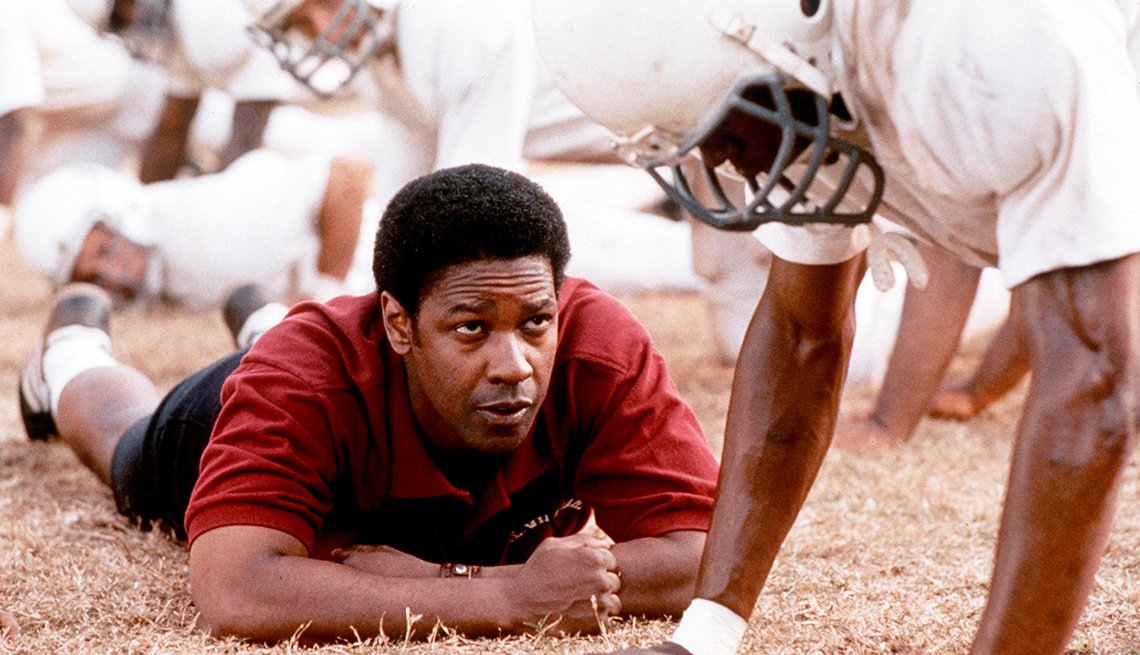 Denzel Washington en una escena de Remember the Titans