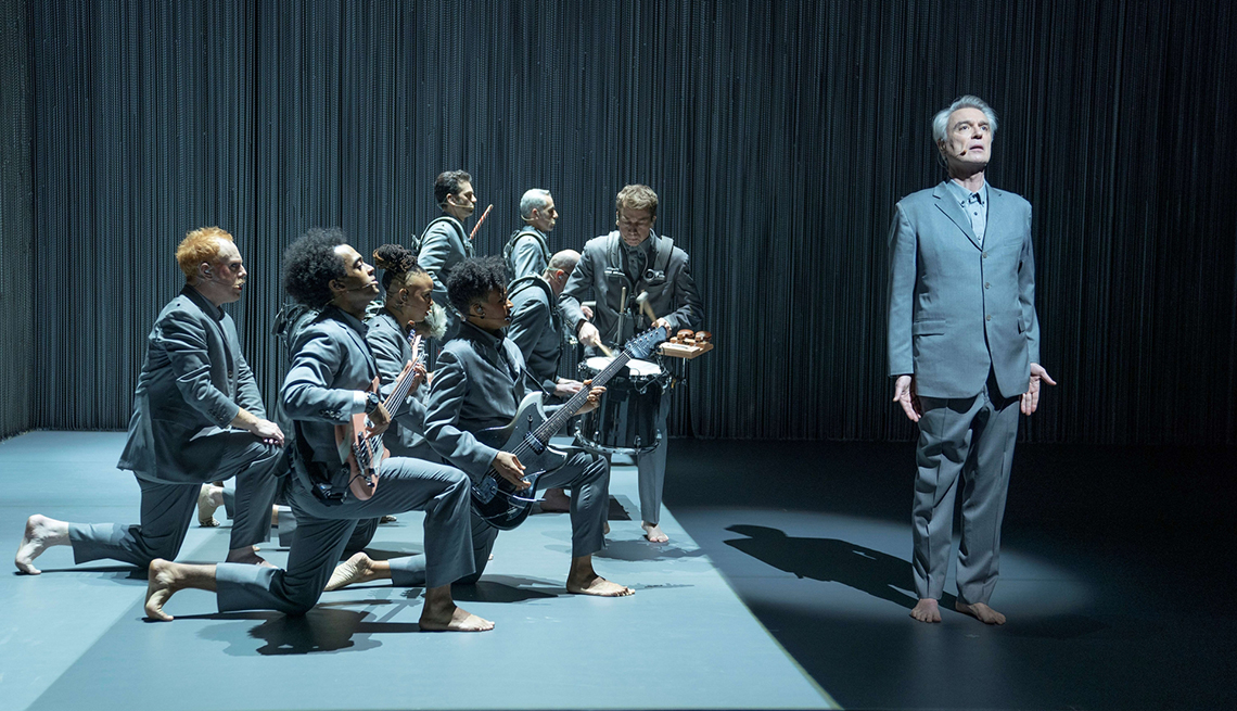 A scene from the filmed version of the Broadway show David Byrne's American Utopia