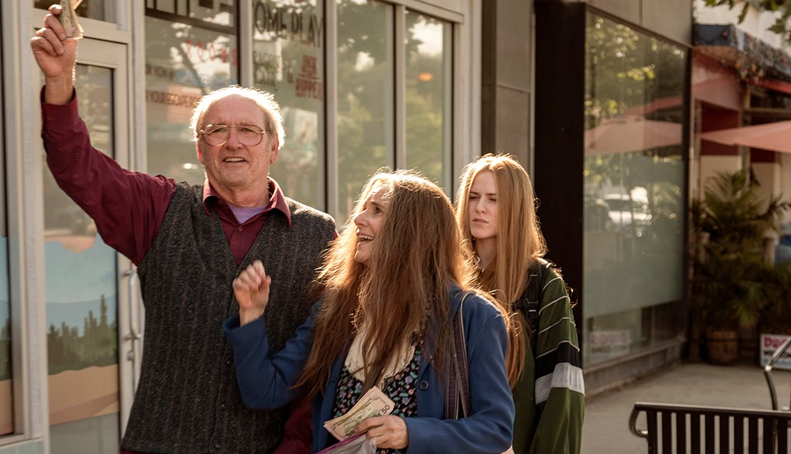 Richard Jenkins, Debra Winger and Evan Rachel Wood in Kajillionaire