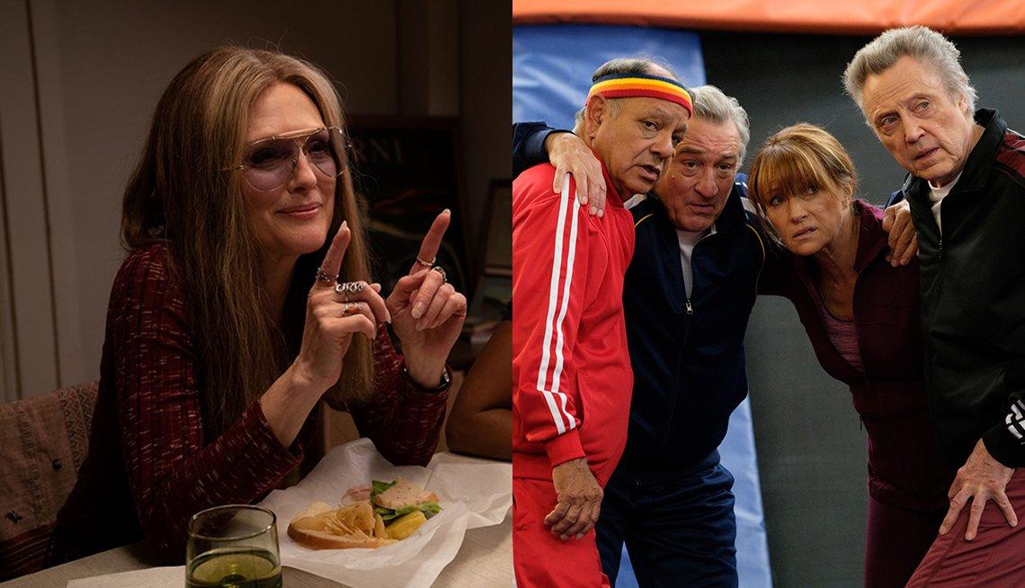 Julianne Moore in The Glorias while Cheech Marin, Robert De Niro, Jane Seymour and Christopher Walken star in The War with Grandpa