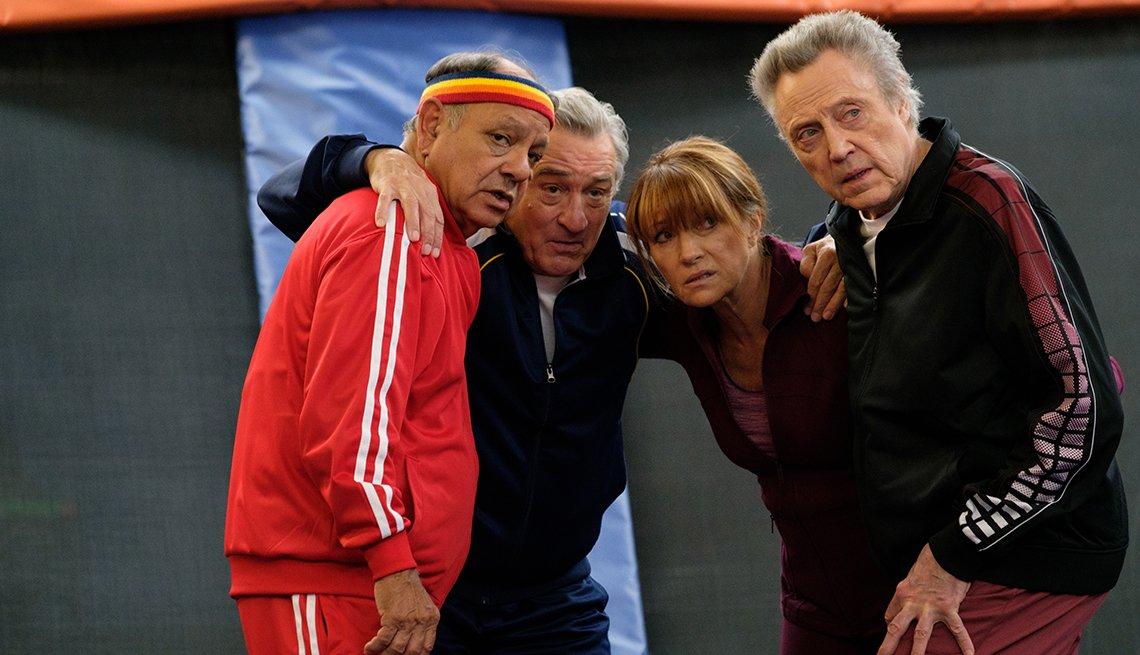 Cheech Marin, Robert De Niro, Jane Seymour and Christopher Walken in a scene from the film The War with Grandpa