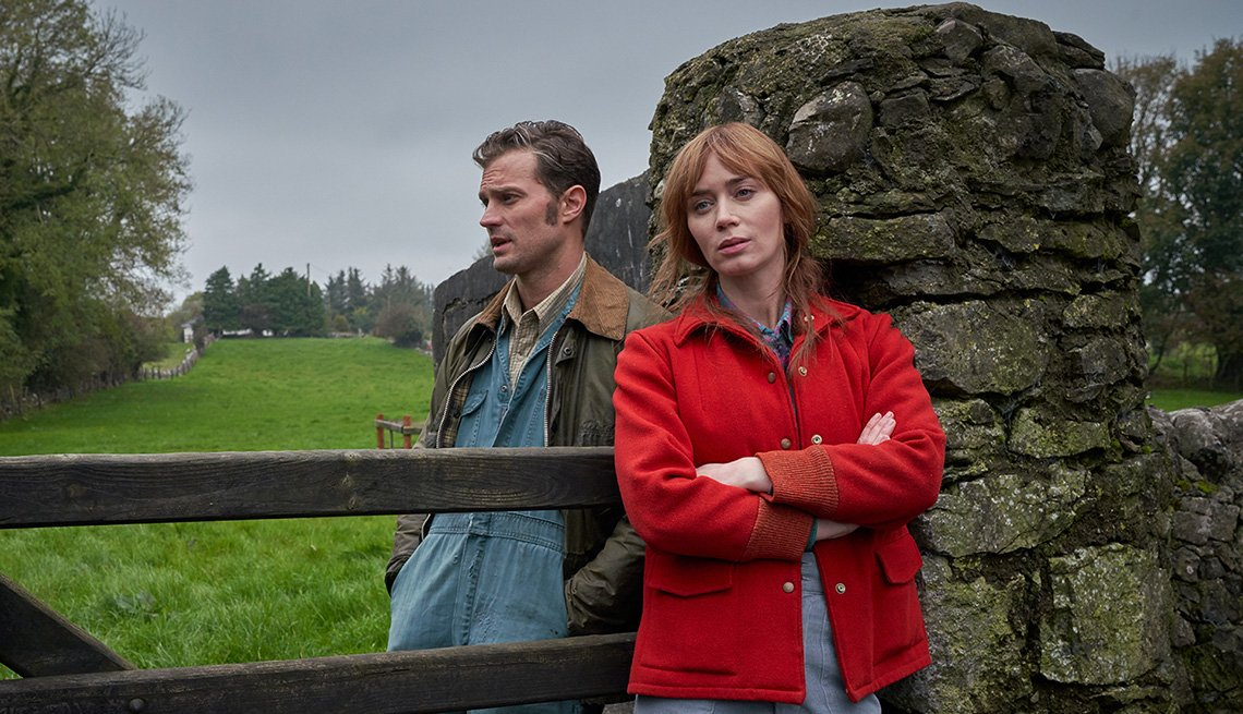 Jamie Dornan and Emily Blunt star in the film Wild Mountain Thyme
