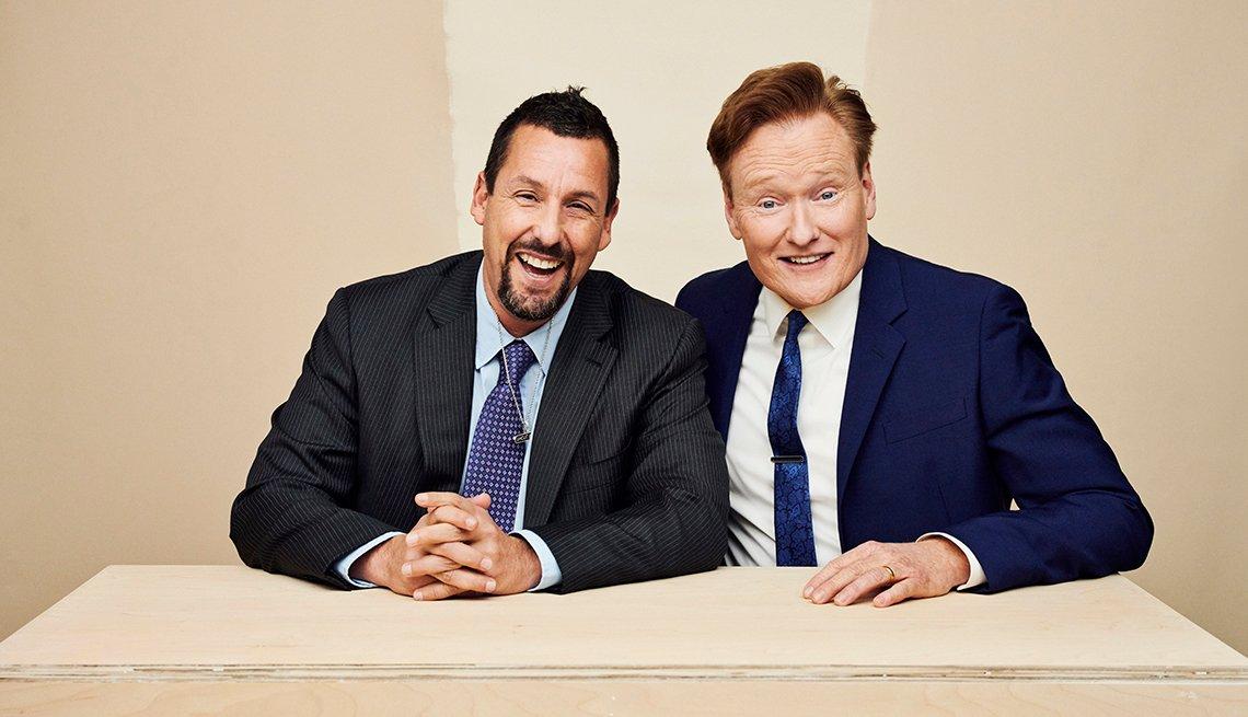 Adam Sandler y Conan O'Brien