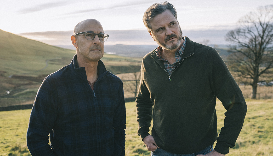 Stanley Tucci and Colin Firth in a scene from the film Supernova