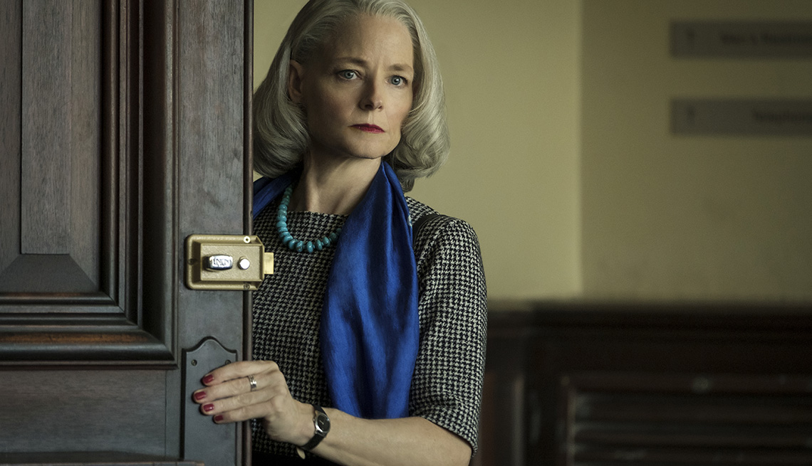Jodie Foster stars as Nancy Hollander in the film The Mauritanian