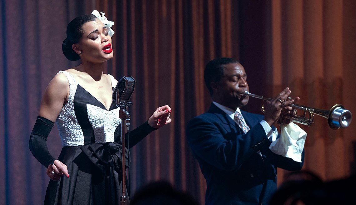 "Andra Day y Kevin Hanchard en ""The United States vs. Billie Holiday""."