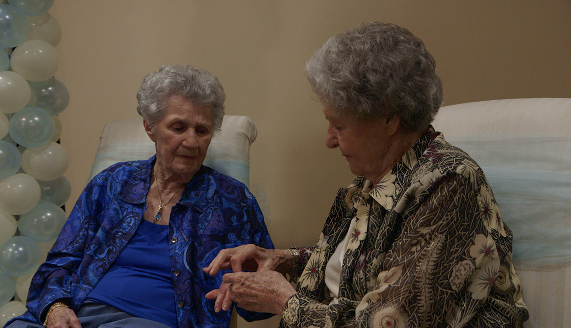item 15 of Gallery image - Terry Donahue and Pat Henschel in a scene from the documentary A Secret Love