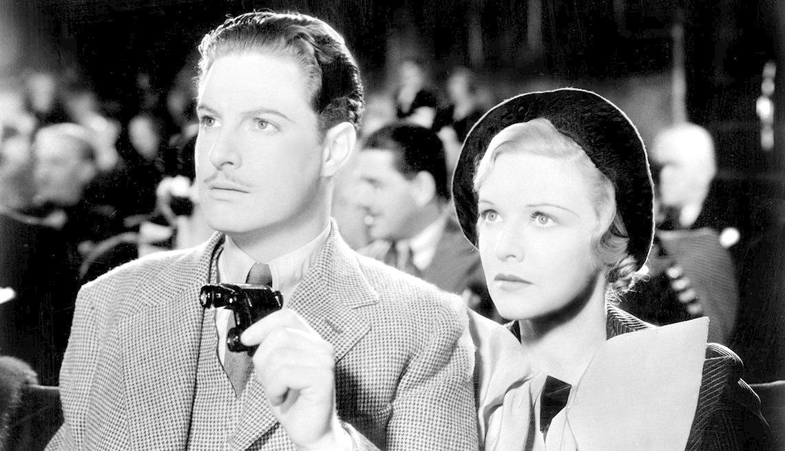 Robert Donat y Madeleine Carroll en la película 'The 39 Steps'.