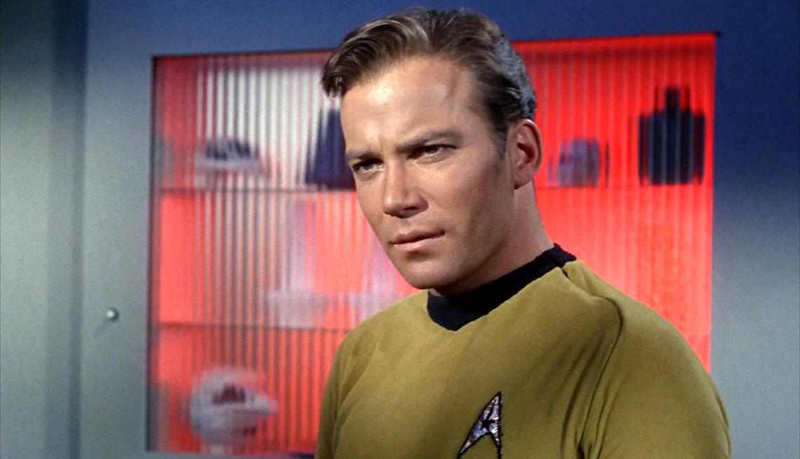 William Shatner como el capitán James T. Kirk en Star Trek: The Original Series.