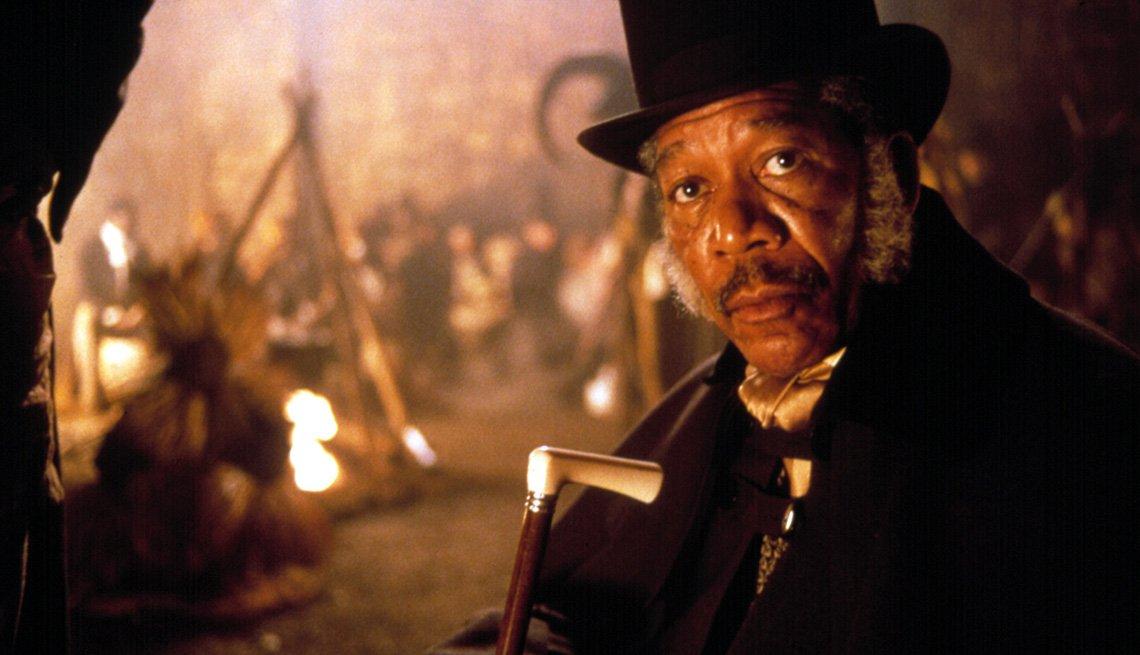 Morgan Freeman protagoniza la película Amistad.