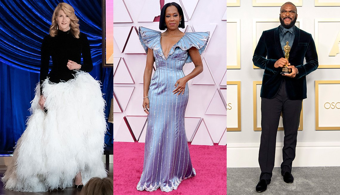 Laura Dern, Regina King and Tyler Perry at the Oscars