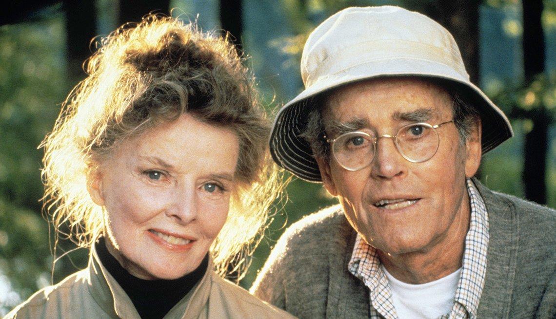 Katharine Hepburn and Henry Fonda star in the film On Golden Pond