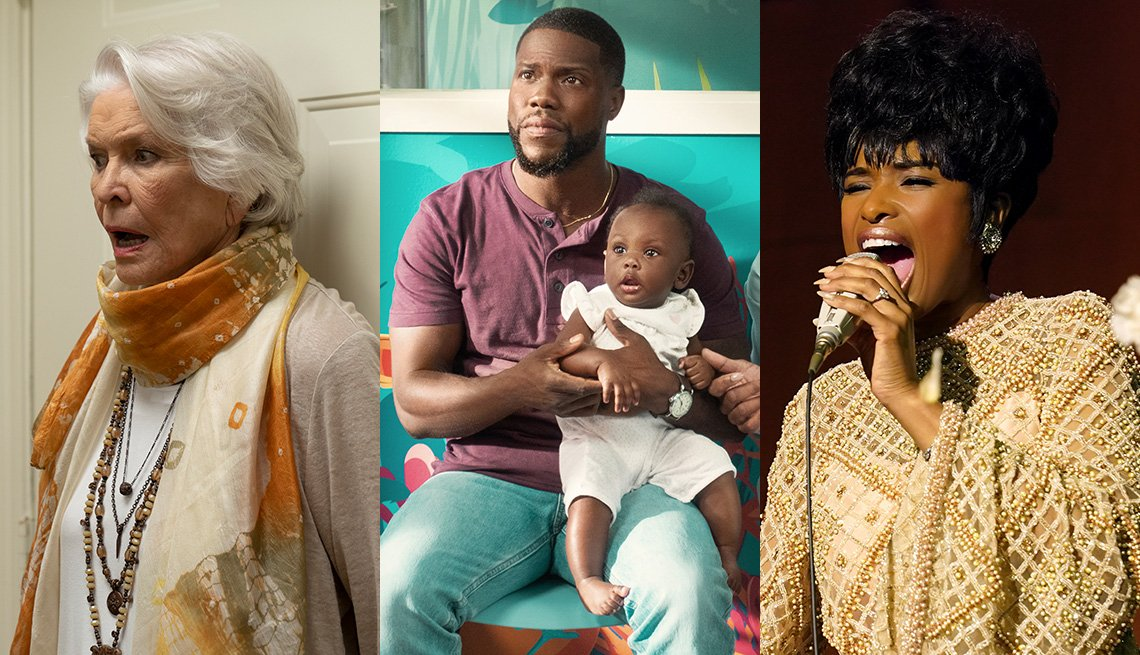 Ellen Burstyn, Kevin Hart and Jennifer Hudson