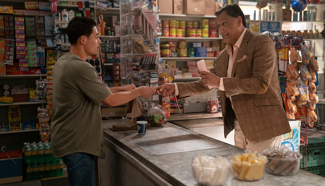 Anthony Ramos and Jimmy Smits star in the film In the Heights