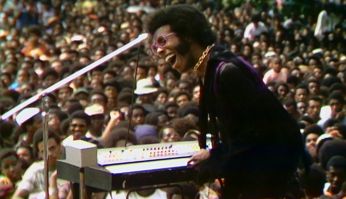 Sly Stone performing at the Harlem Cultural Festival in 1969