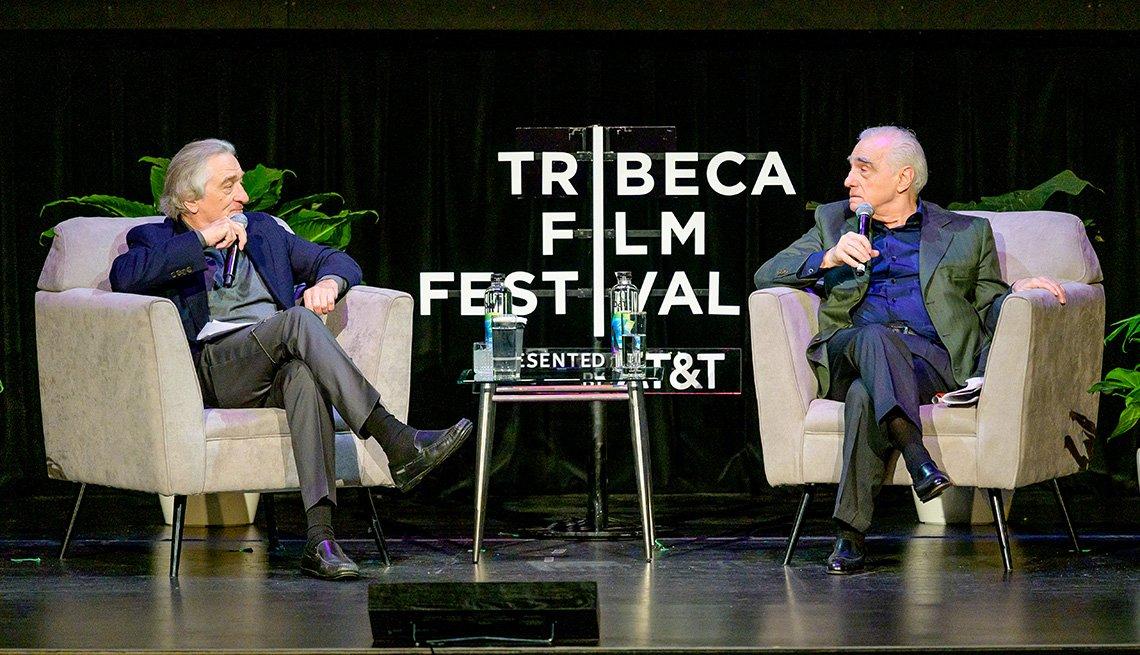 Robert De Niro y Martin Scorsese participan en la serie de directores de Tribeca Talks en el Festival de Cine de Tribeca.