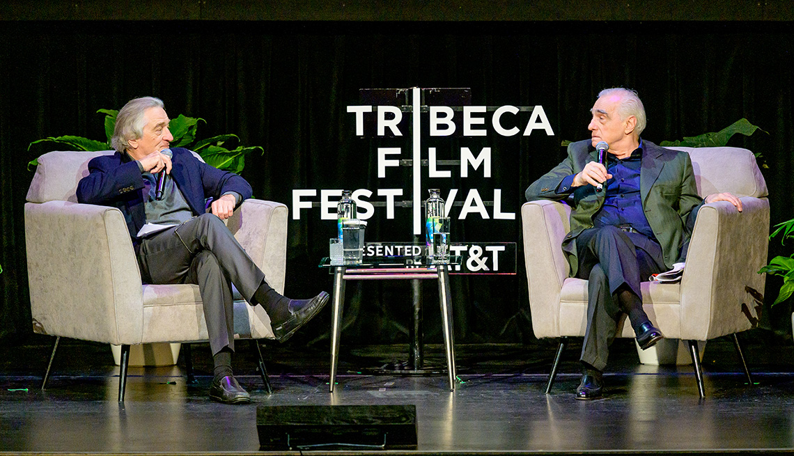 Robert De Niro and Martin Scorsese take part in Tribeca Talks Directors Series at the Tribeca Film Festival