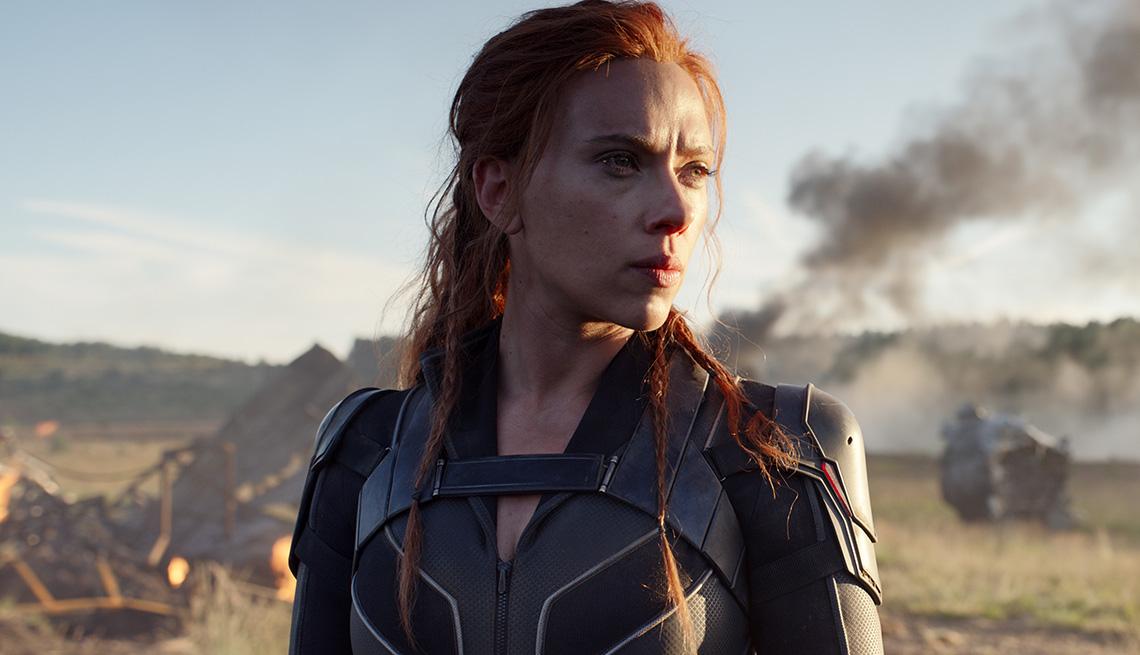 """Scarlett Johansson como Natasha Romanoff en """"Black Widow""""."""